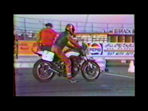 Motorcycle Racing, Sacramento Raceway Motorcycle Drag Race 1982