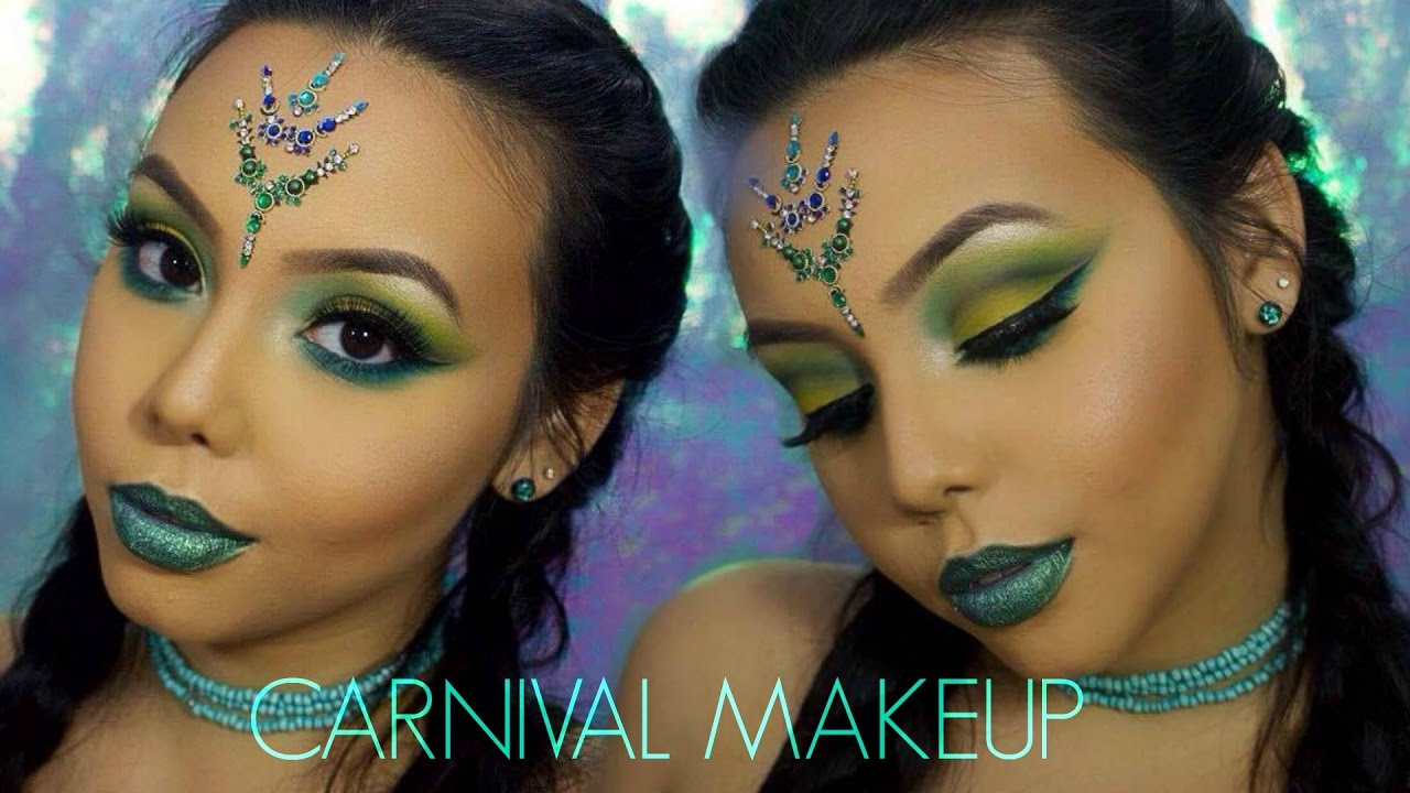 Carnival Makeup Green Yellow Amp Blue Eyes Chanelle