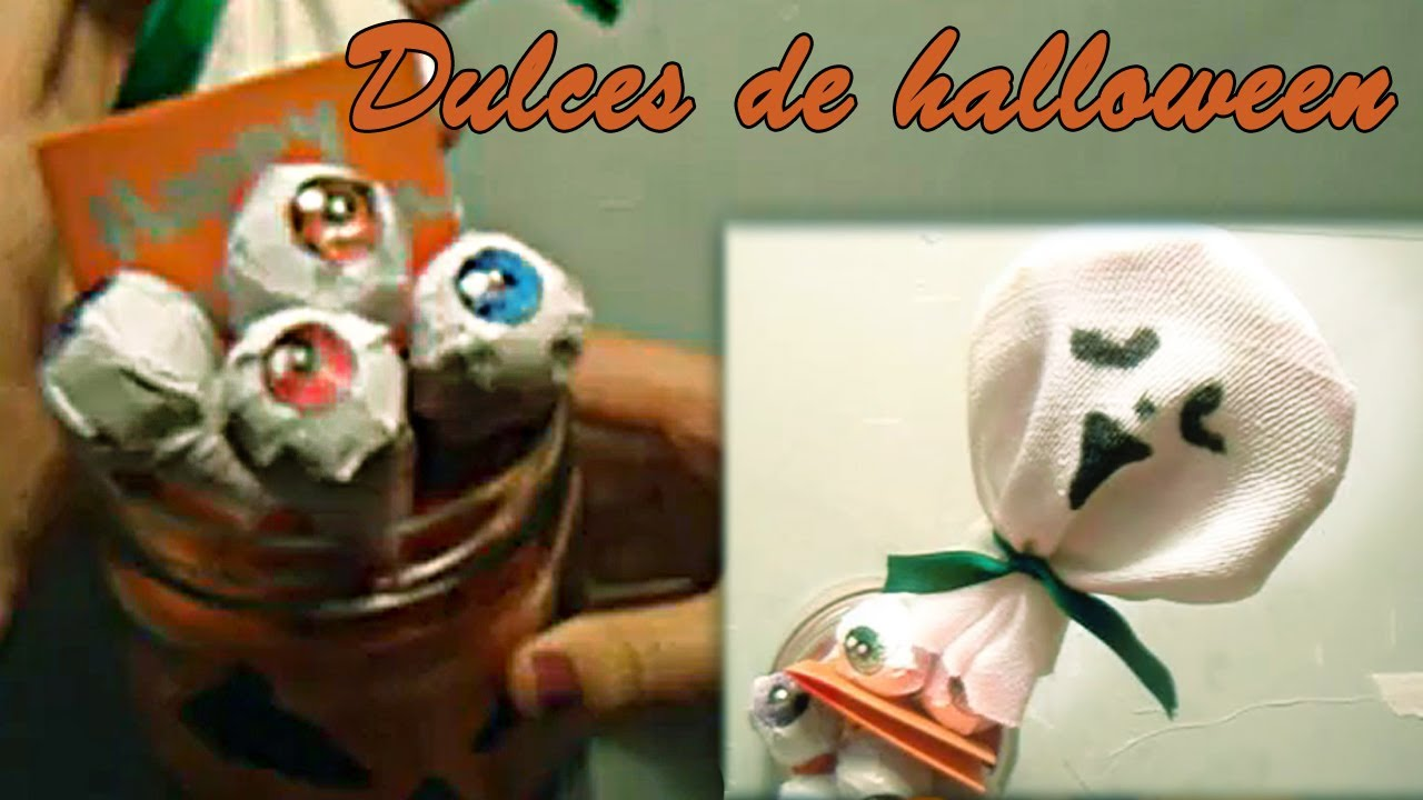 Dulces de halloween manualidades para halloween youtube - Manualidades para decorar halloween ...