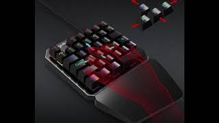 One handed keyboard. HXSJ gaming device.