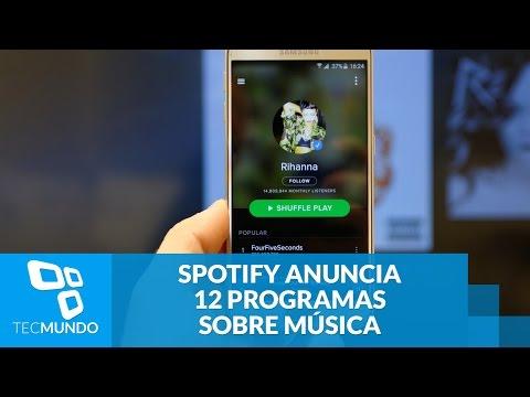 Spotify anuncia produção de 12 programas sobre música