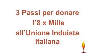 3 Passi per donare l'8 x Mille all'Unione Induista Italiana [punjabi]