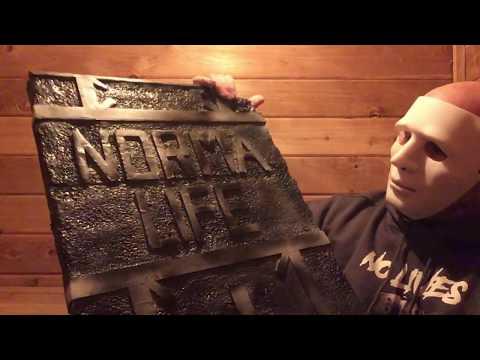 Panic Props DIY : Homemade Headstone Tombstone