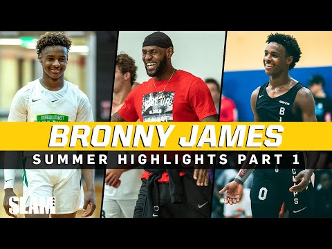 Bronny James is a YOUNG KING! 👑 LeBron James Jr. Summer Highlights Part 1