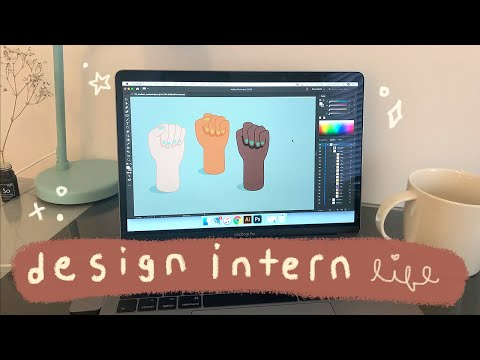 day in the life of a graphic design intern ~