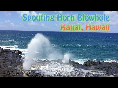Spouting Horn Blowhole in Poipu, Kauai Hawaii