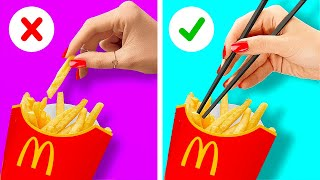 30 AMAZING FAST FOOD HACKS