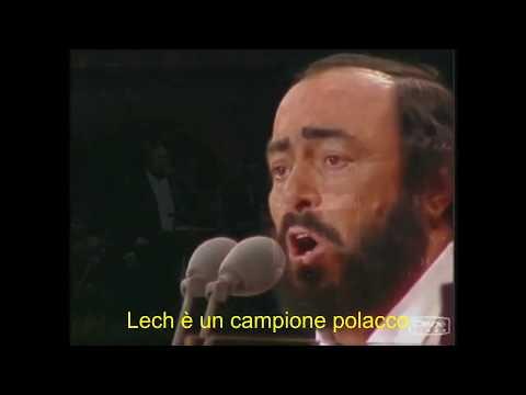 SZOK! LUCIANO PAVAROTTI OBRAŻA LEGIĘ! ( Sottotitoli in italiano )