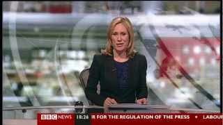 Final BBC News at Six from BBC Television Centre Friday 15 March 2013