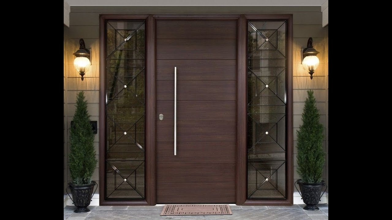 Top 100 Modern Front Door Designs catalogue 2018- Plan n ... on Modern Entrance Design  id=17909
