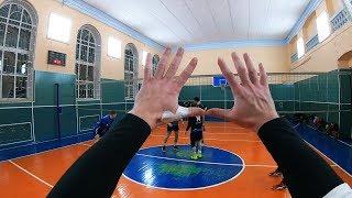 ВОЛЕЙБОЛ ОТ ПЕРВОГО ЛИЦА. Волейбол нападающий удар от первого лица. GoPro like haikyuu