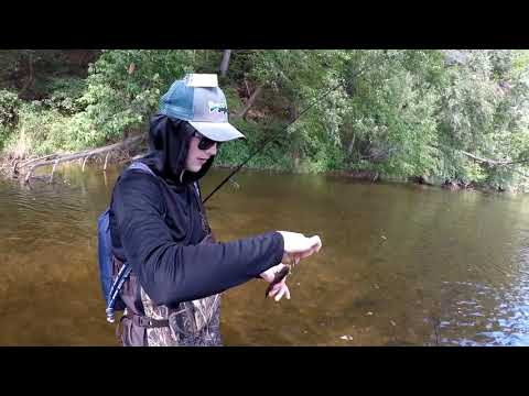 SMALLMOUTH BASS fishing on the Octoraro Creek nonstop action, Delaware River