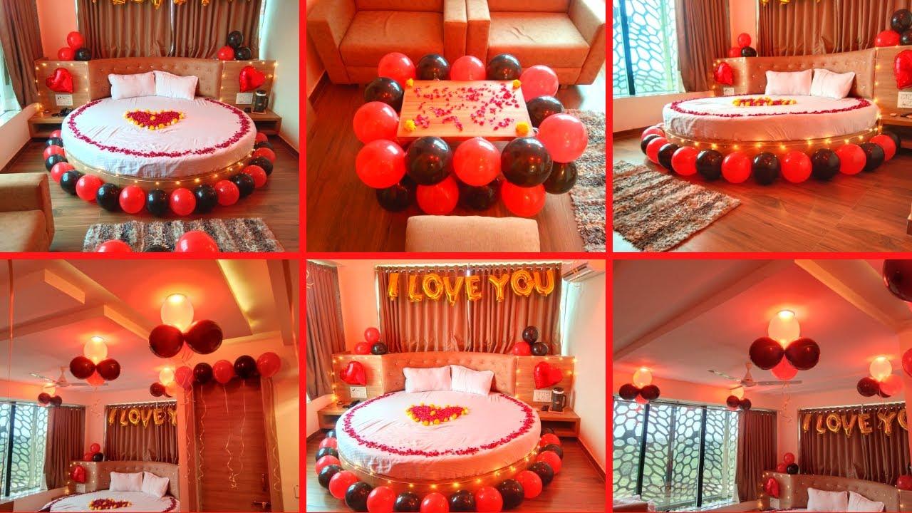 Birthday Hotel Room Decoration For Girlfriend Birthday Decoration Ideas Het Decor Youtube