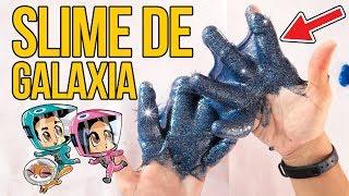 Cómo hacer SLIME GALÁCTICO casero - MOCO DE GORILA DE GALAXIA (Experimentos Caseros)