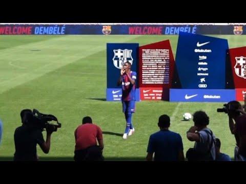 Barcelona: Dembele presented to fans at Camp Nou