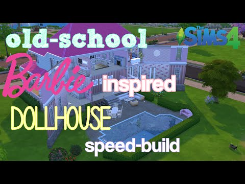 Old school Barbie inspired dollhouse speed build || Norwegia