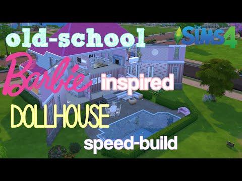 Old school Barbie inspired dollhouse speed build || Norwegian_Simmer || sims 4