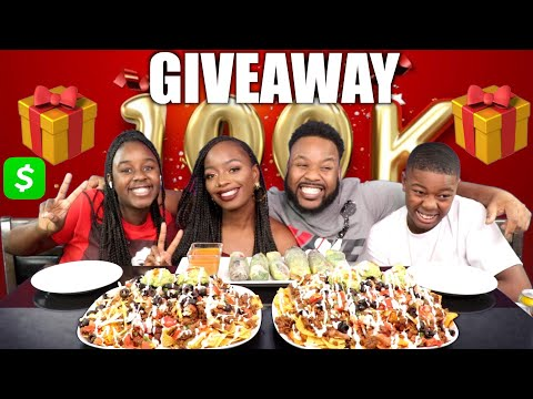 LOADED VEGAN NACHOS , SPRING ROLLS | 100K CELEBRATION GIVEAWAY VIDEO (CLOSED)