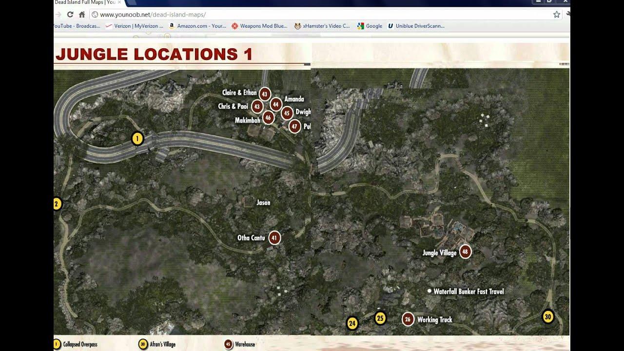 Dead Island Mod Location Map