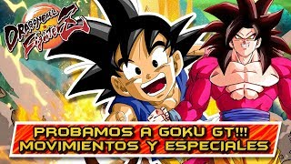JUGAMOS CON GOKU GT (Movimientos y especiales) COMO JUGAR CON EL DE FORMA ANTICIPADA: DBFZ