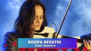 Amazing Violin Performance by Roopa Revathi Violin Maestro, playback singer
