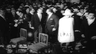 Wedding ceremony of  Anna Maria,sister of  Sophia Loren and  Romano Mussolini son...HD Stock Footage