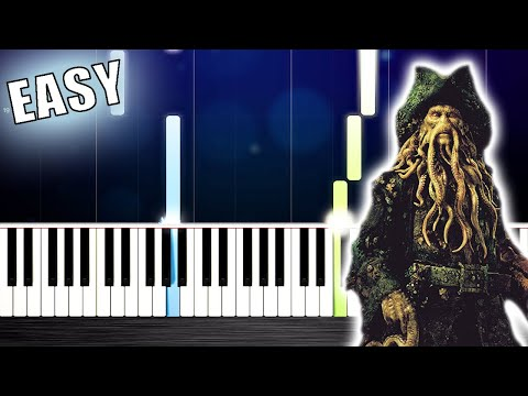 Pirates Of The Caribbean 2 - Davy Jones - EASY Piano Tutorial By PlutaX