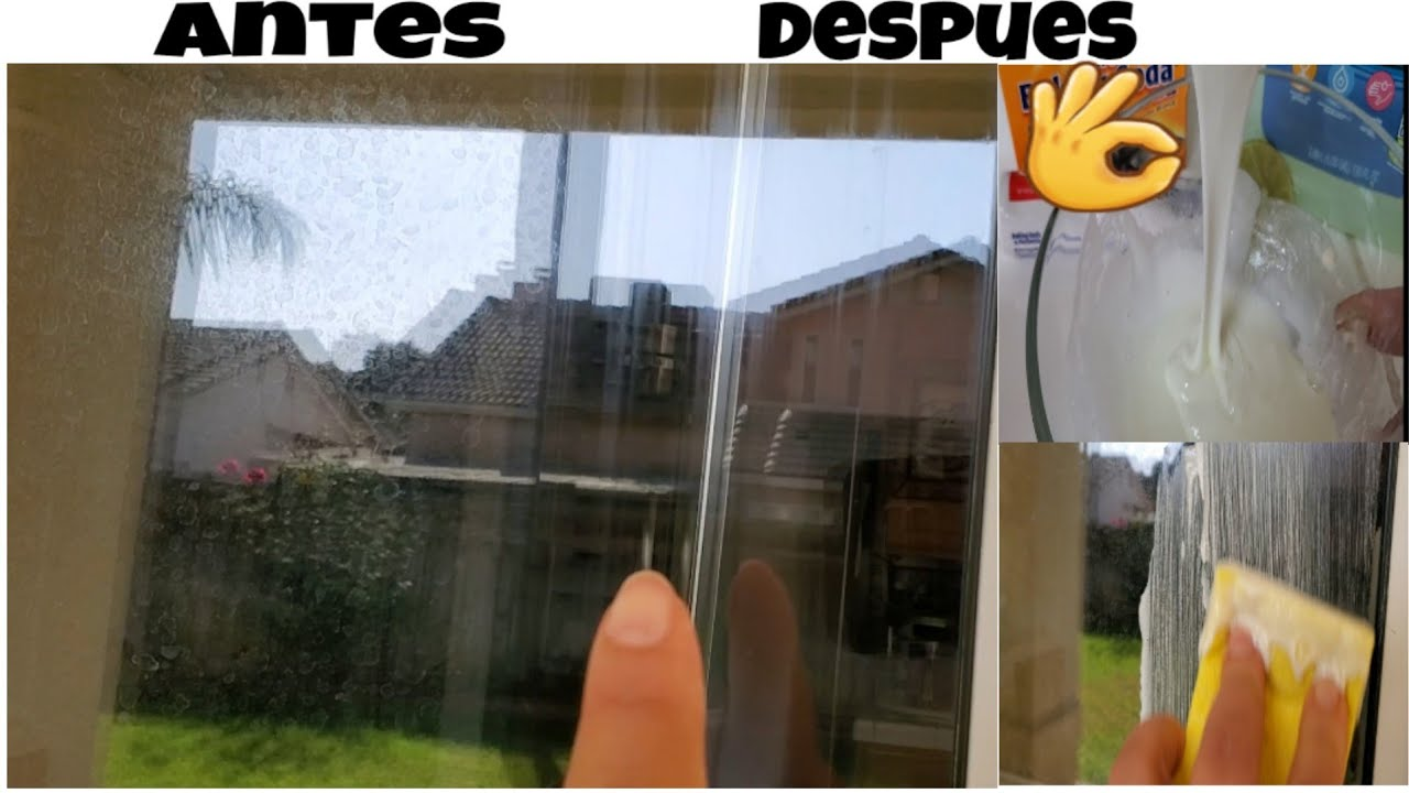 Como Limpiar Las Gotas De Agua Dura En Las Ventanas De Cristal Mezcla Natural Youtube