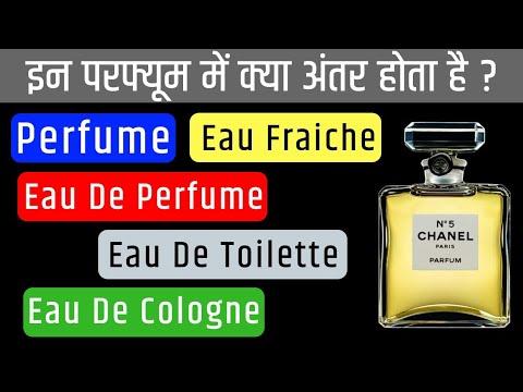 Perfume Vs Eau de perfume Vs Eau de toilette Vs Eau de cologne Vs Eau fraiche  हिंदी में