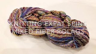Mixed Fiber Rolags - Learning to Spin - Knitting Expat