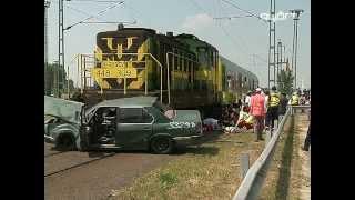 Vonatbaleset élőben