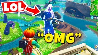 So We TROLLED Players with the GIANT GLITCH In Fortnite...
