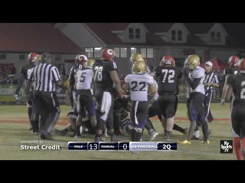 Male vs Manual [GAME] - HS Football 2017