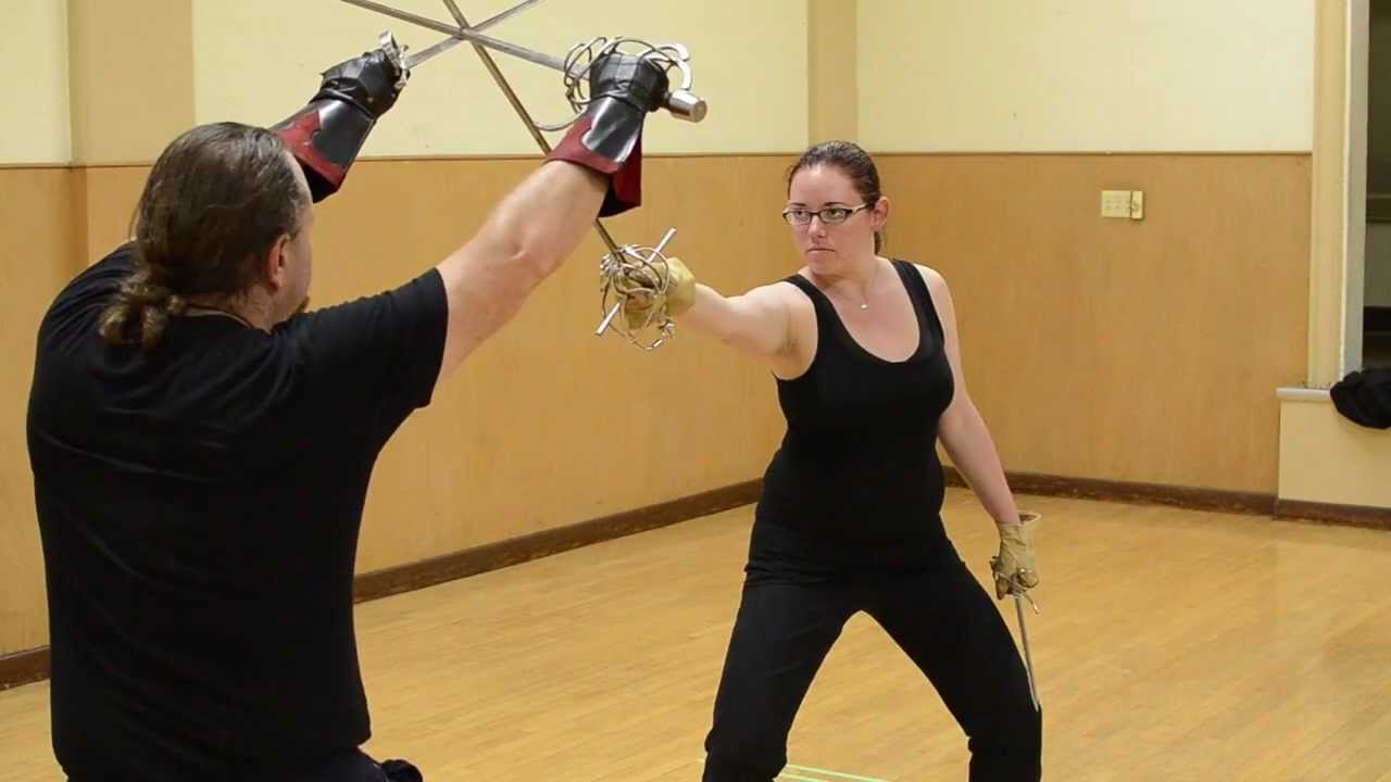 Sword Points 02 Cut Drill Stage Combat Instruction Albion