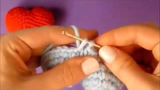 Видео урок   Как вязать амигуруми сердце