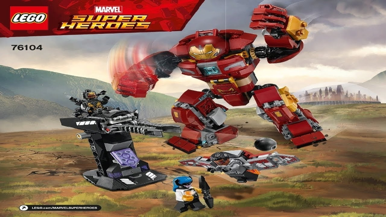 Lego Instructions Super Heroes 76104 The Hulkbuster Smash Up