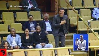Trevor Noah Visit South Africa Parliament
