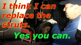 How to replace the front strut assembly on a 2004 Toyota Camry