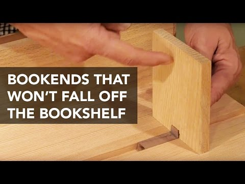 Using a Sliding Dovetail Rail to Secure Bookends