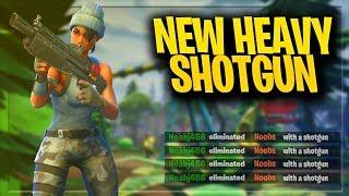 NEW HEAVY SHOTGUN DOUBLE PUMPING! (Fortnite: Battle Royale Update)