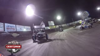 World of Outlaws Craftsman Sprint Cars Tri-State Speedway Onboard