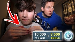 Kid Spends $100 on VBucks with Dad's CREDIT CARD (Fortnite)