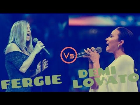 Demi Lovato VS Fergie Singing the 'National Anthem'.