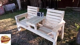 Watch me how i Build a double seat bench for my Garden from 2x4