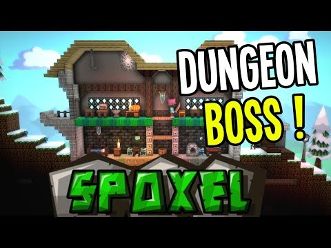 Spoxel - Fighting a DUNGEON BOSS for MAGIC POWER CORE - Spoxel Gameplay