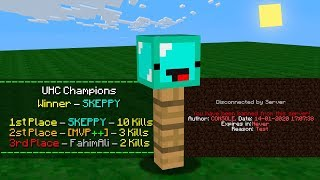 Minecraft UHC but I got BANNED and WON?