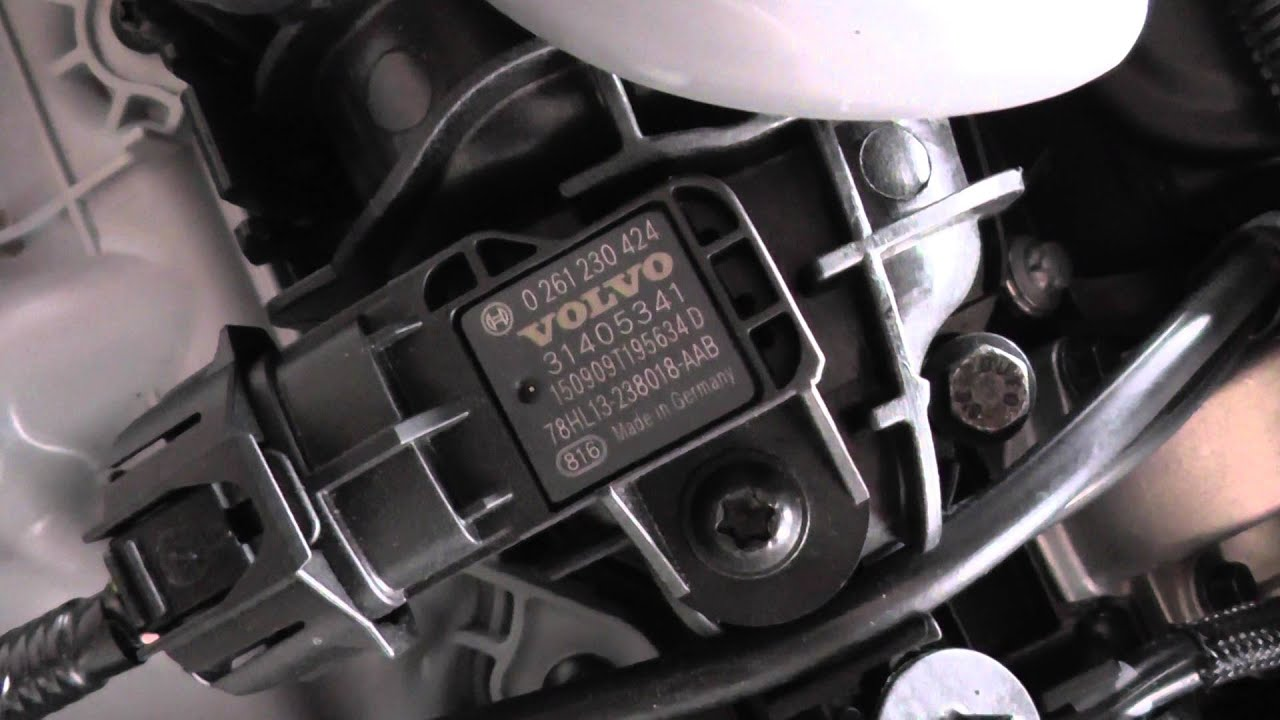 volvo  mk map sensor location youtube