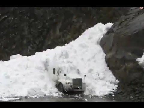 Утро после ЛАВИНЫ!!! Военно-грузинская дорога. Крестовый перевал. Казбеги. Грузия зимой.