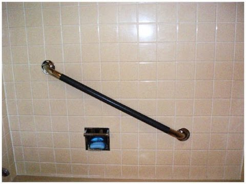 Bathroom Grab Bar Installation Height grab bar installation - youtube