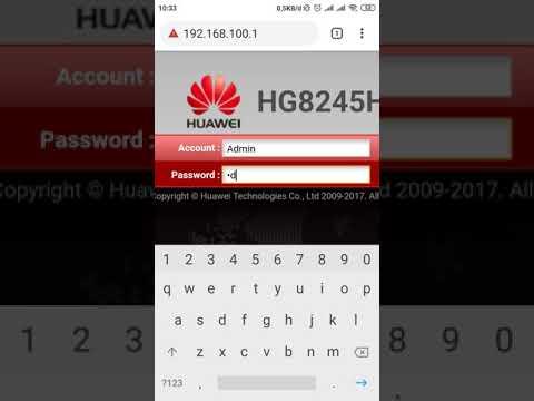 Cara ganti password dan nama WiFi HUAWEI - YouTube